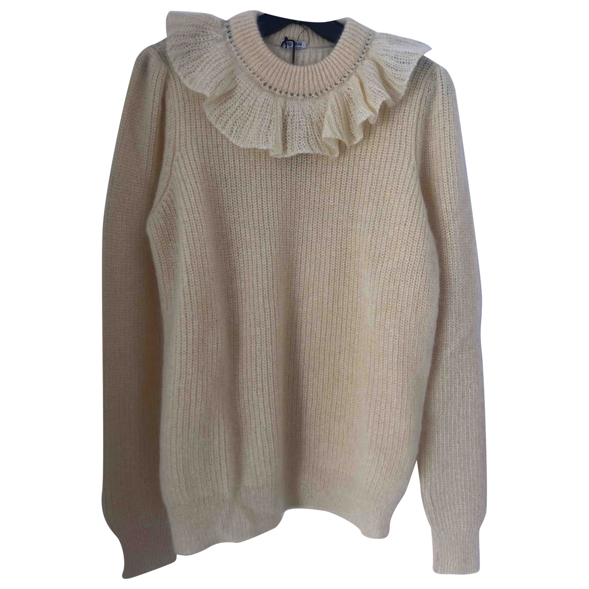 Miu Miu \N Yellow Wool Knitwear for Women 44 IT