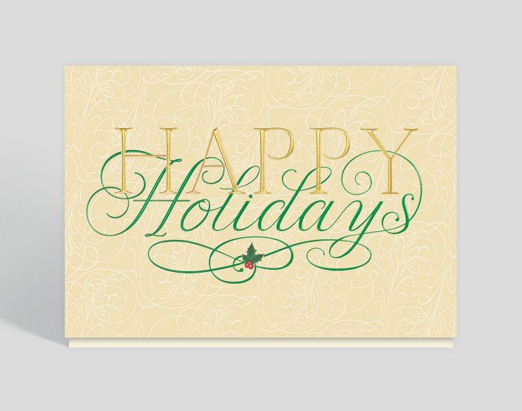 Snowflake Ornaments Holiday Card - Greeting Cards