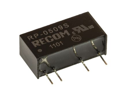 Recom RP 1W Isolated DC-DC Converter Through Hole, Voltage in 4.5 → 5.5 V dc, Voltage out 9V dc