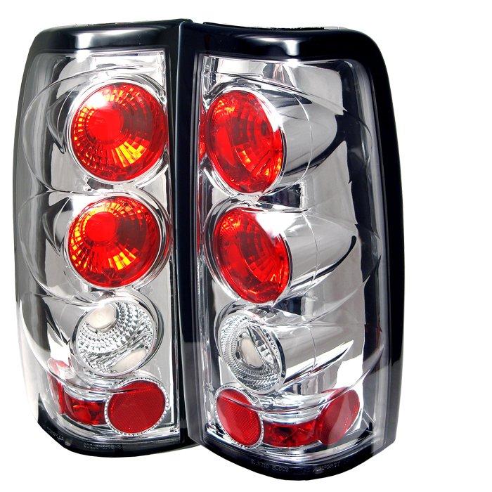 Spyder Altezza Chrome Tail Lights Chevrolet Silverado & GMC Sierra 1500/2500/3500 03-06