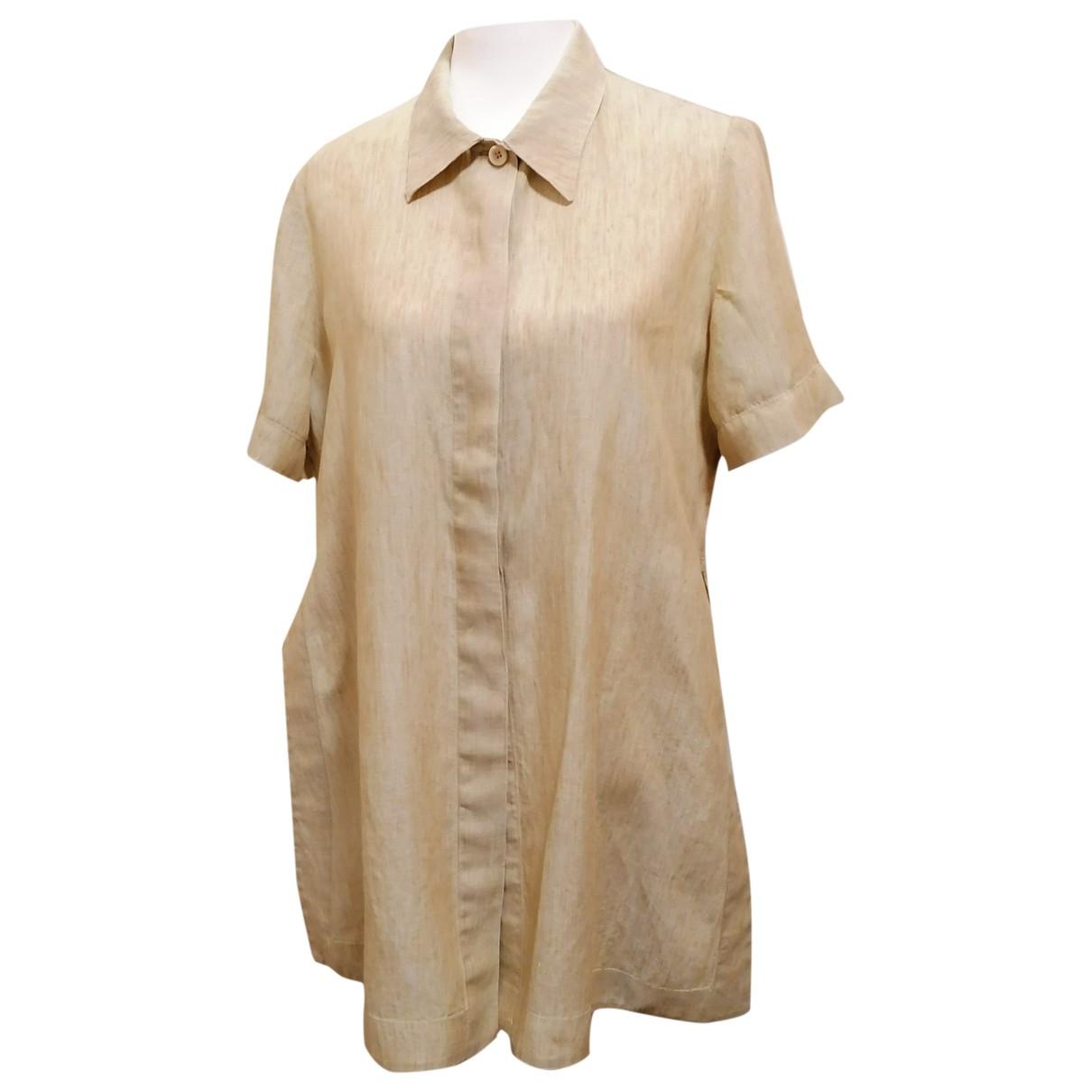 Non Signé / Unsigned \N Ecru Linen  top for Women 44 IT