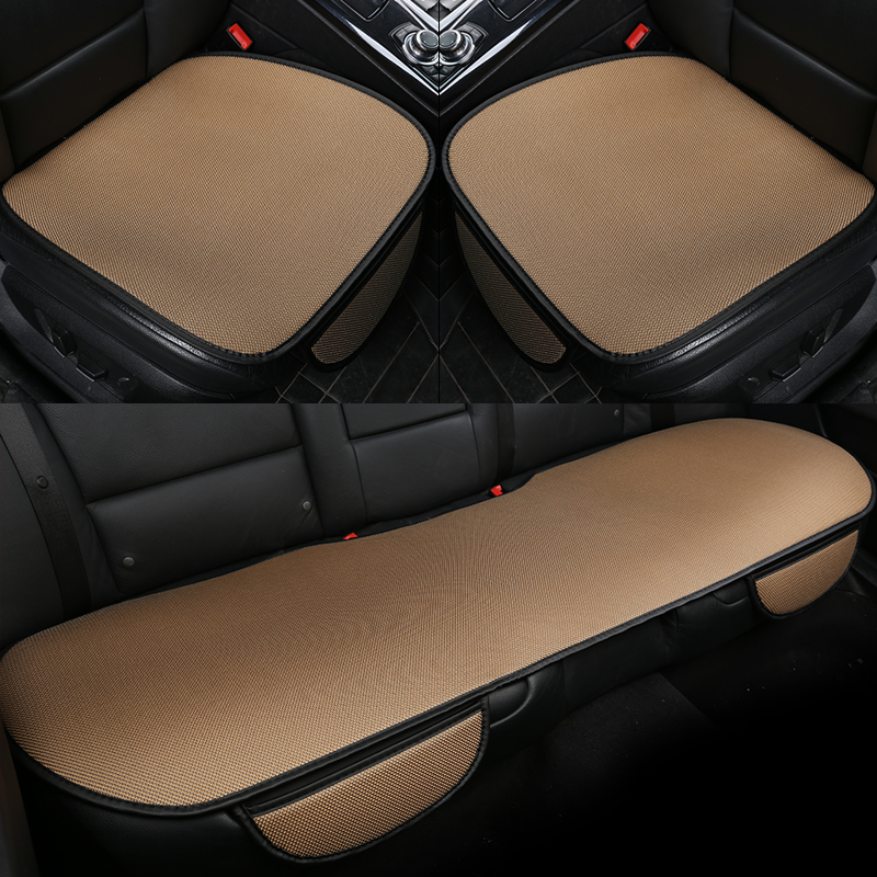 Simple Style Plain Pattern Microfiber Material 3-pieces Summer Car Seat Mat