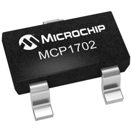 Microchip MCP1702T-3002E/CB, LDO Regulator, 250mA, 3 V, ±0.4% 3-Pin, SOT-23A (10)