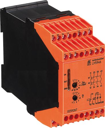 Dold Standstill Monitoring Relay With 3NO/NC Contacts, 24 V dc Supply Voltage