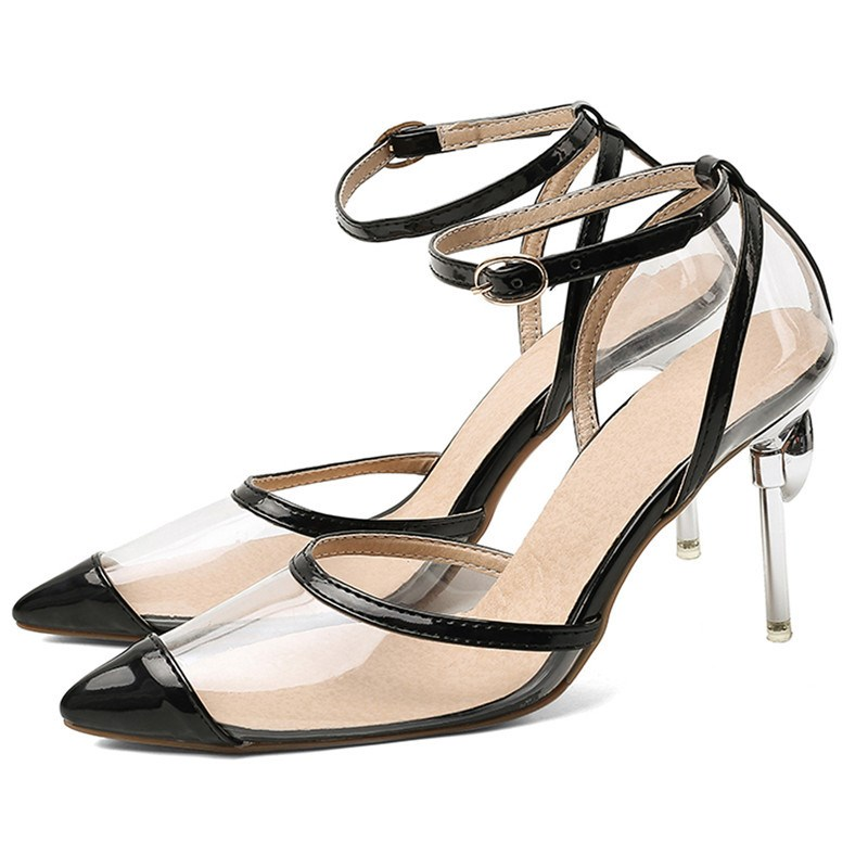 Ericdress Stiletto Heel Pointed Toe Buckle Pumps