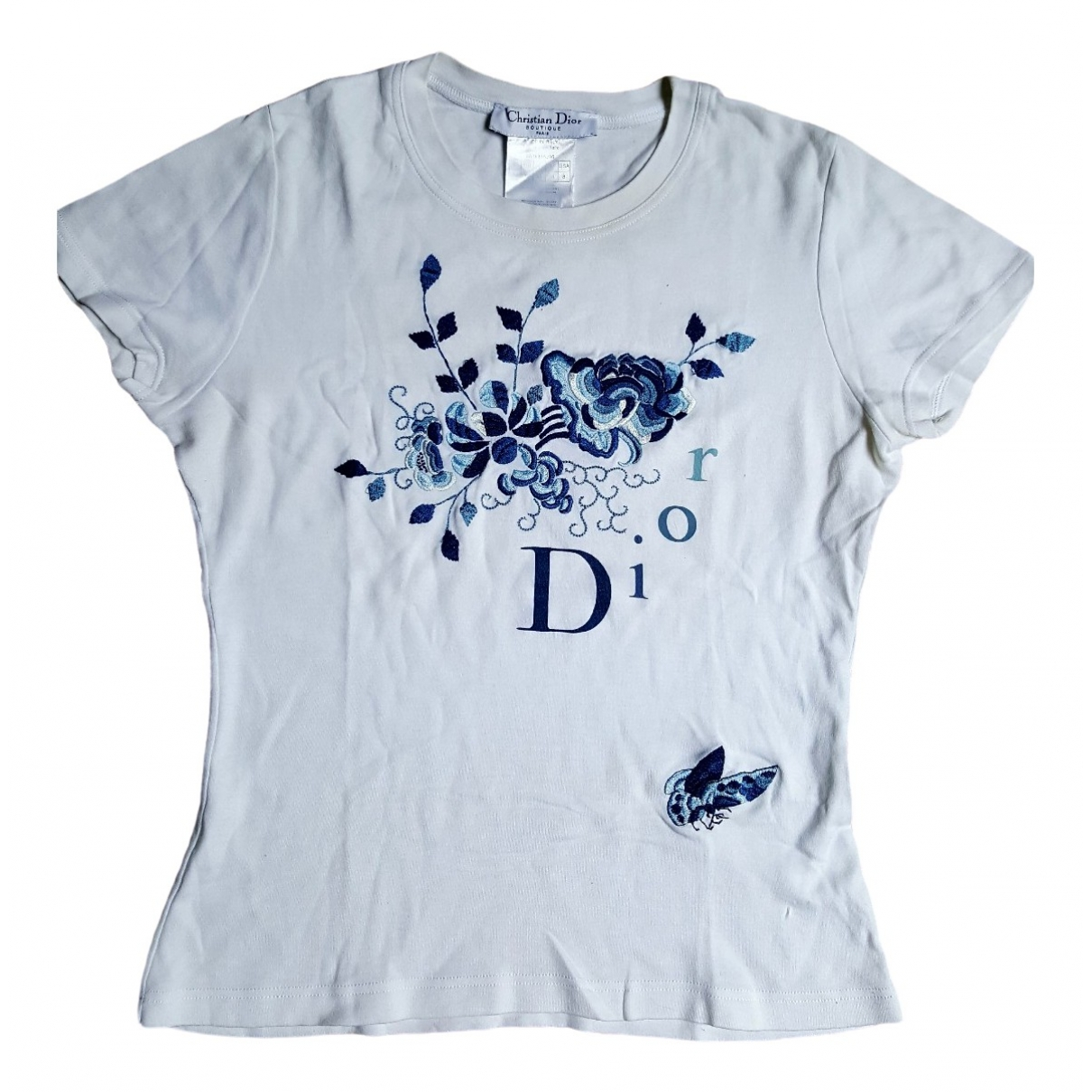 Dior \N White Cotton  top for Women 40 FR