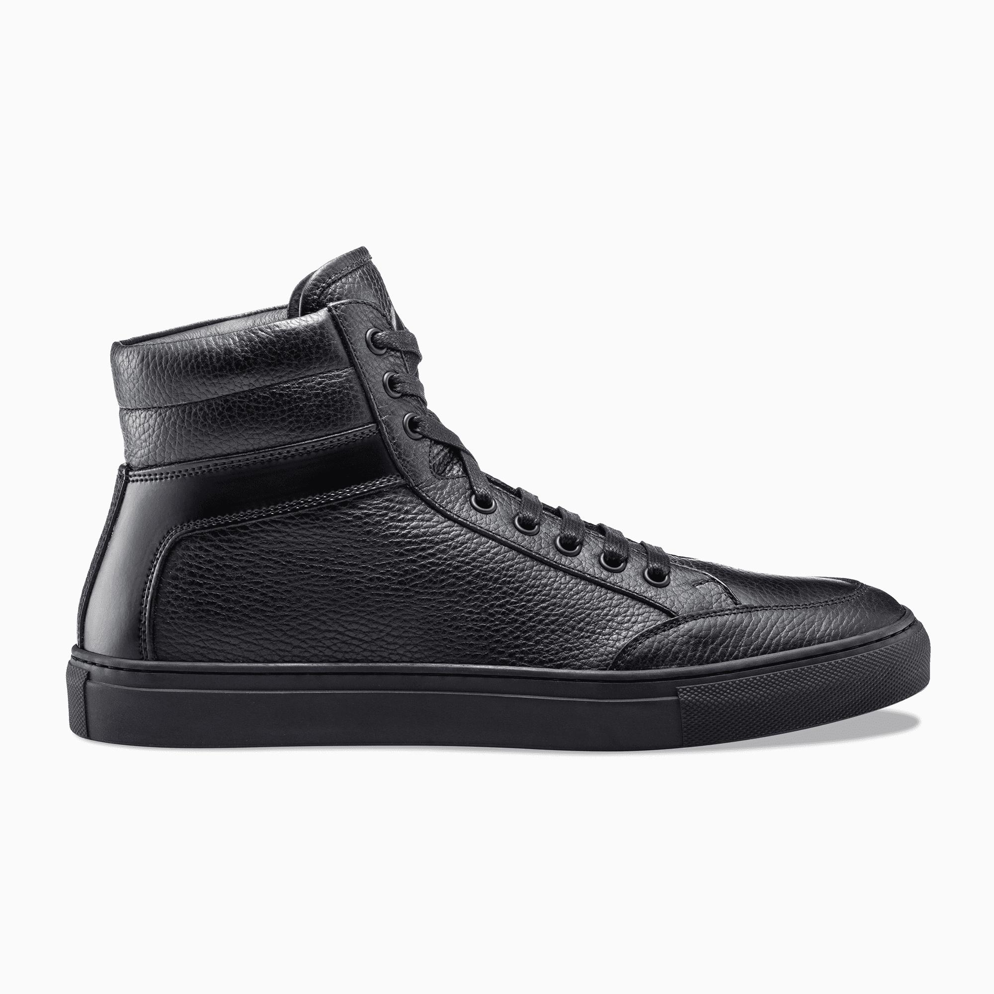 KOIO Men's High Top Nero Black Leather Primo 13 (US) / 46 (EU)