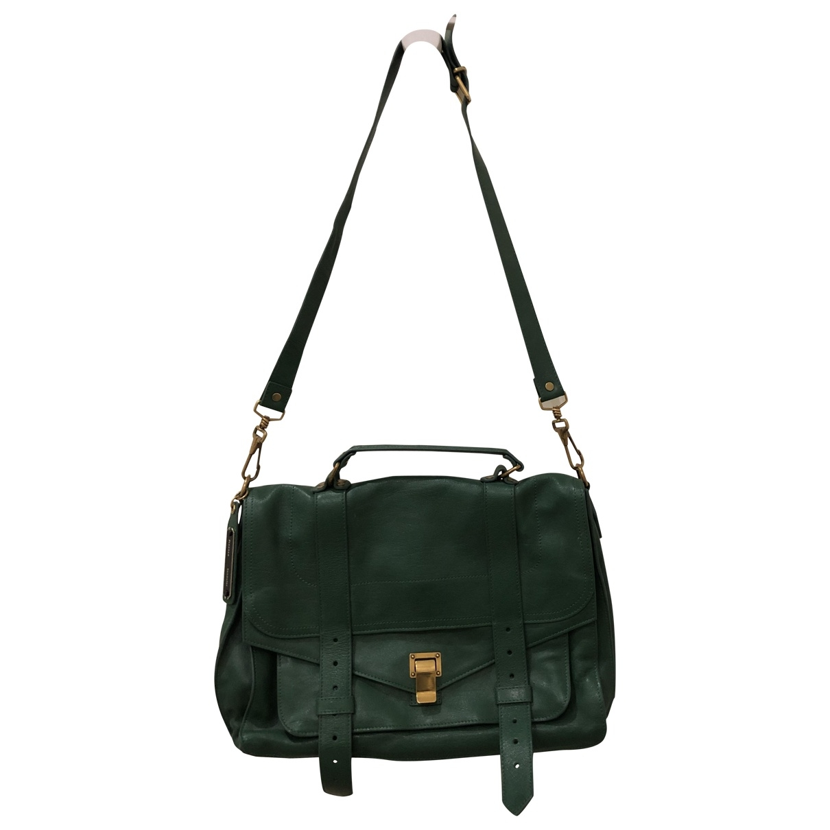Proenza Schouler PS1 Large Green Leather handbag for Women \N