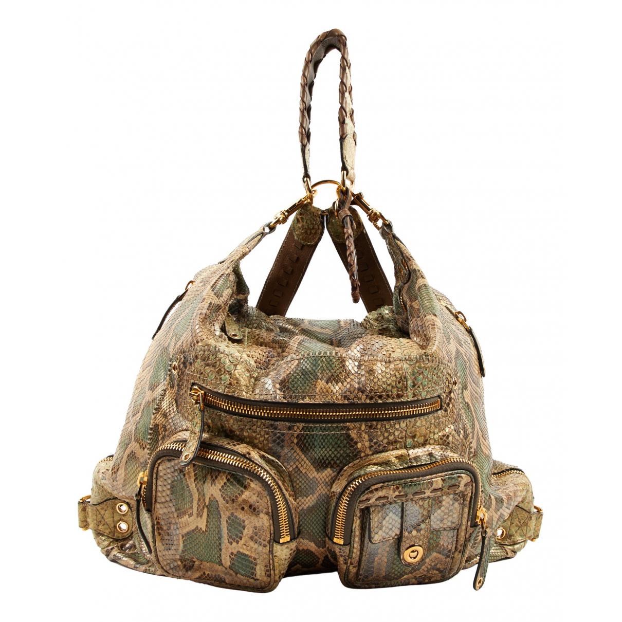 Gucci \N Khaki Python backpack for Women \N
