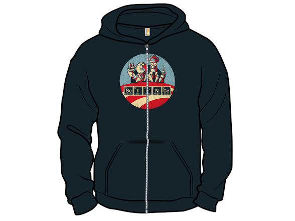 Vote For Science! Zip Hoodie