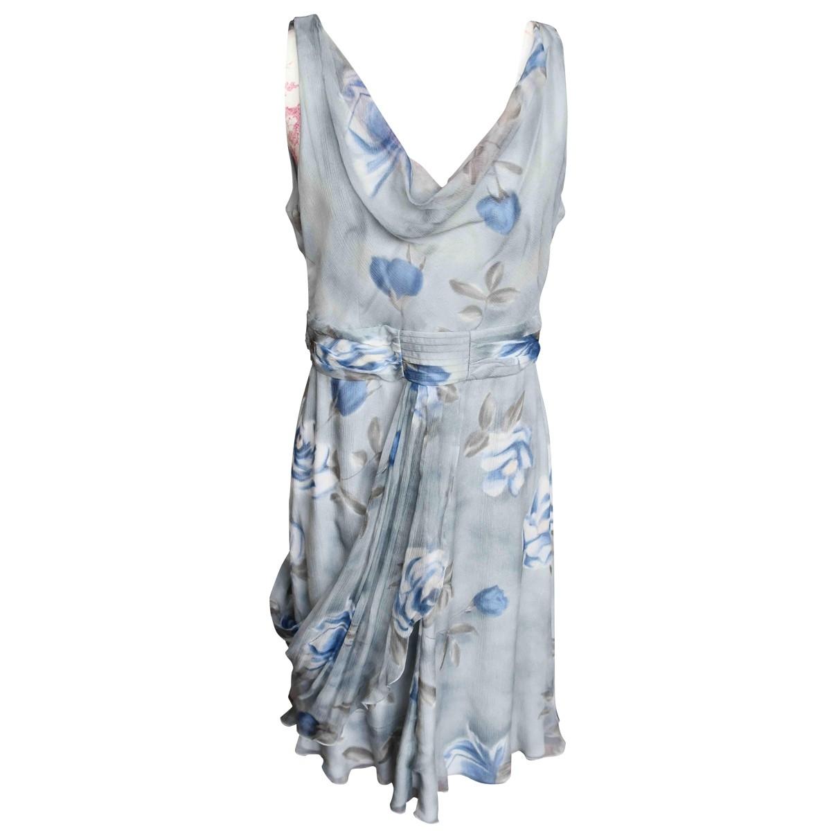 Armani Collezioni \N Grey Silk dress for Women 44 IT