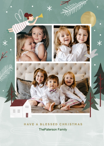 Religious Christmas Cards 5x7 Cards, Standard Cardstock 85lb, Card & Stationery -Blessed Christmas
