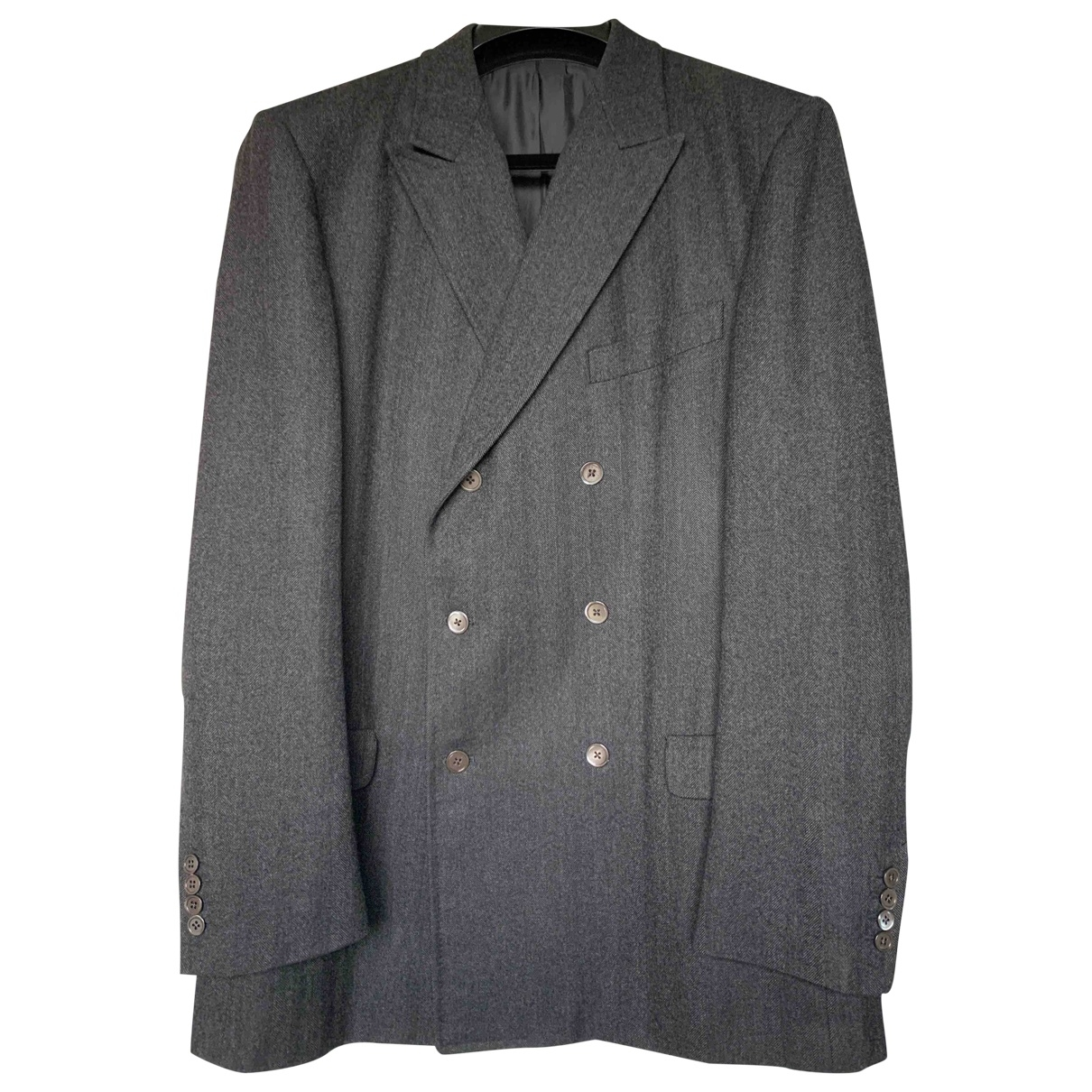 Yves Saint Laurent \N Anthracite Wool Suits for Men 54 FR