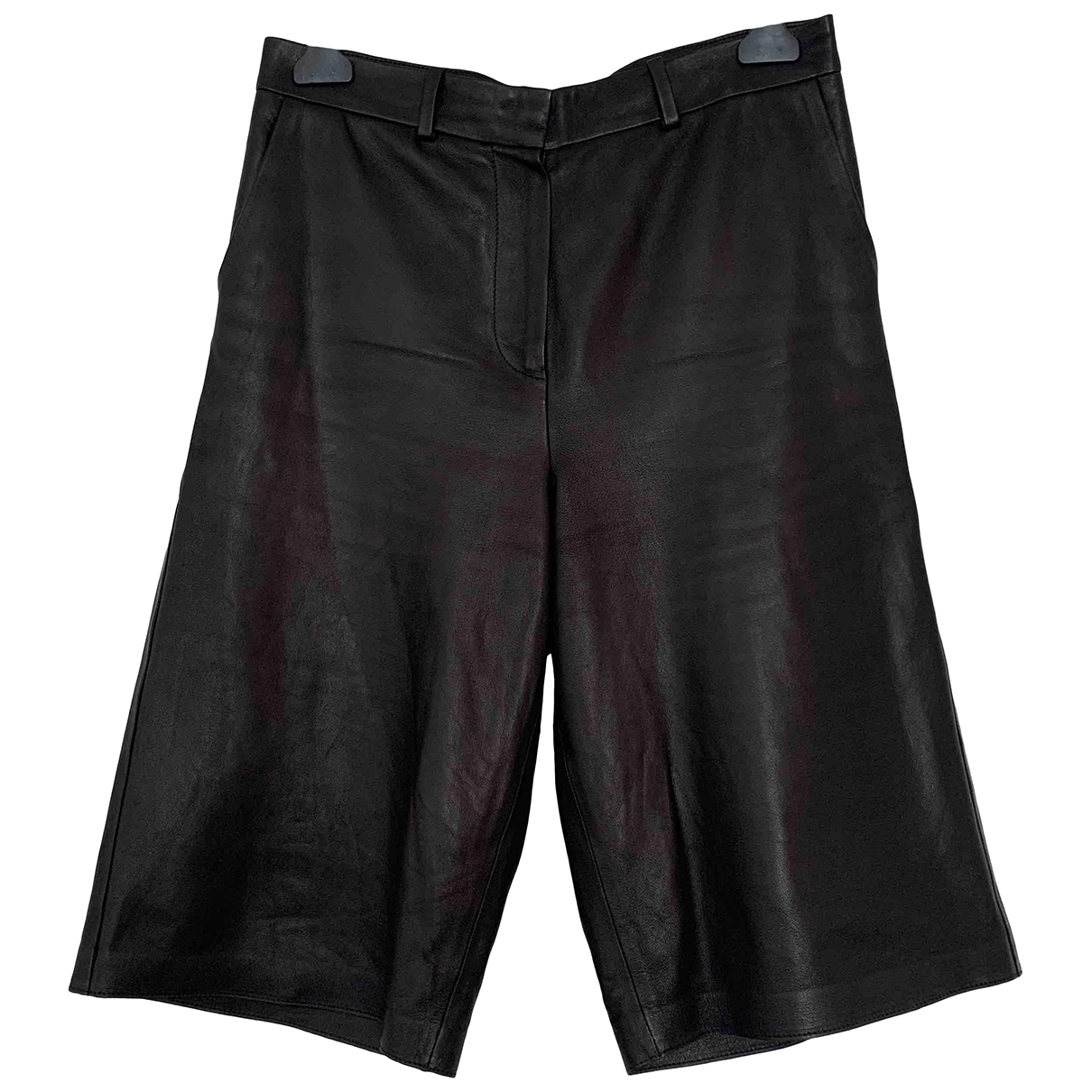 Arket \N Black Leather Trousers for Women 14 UK