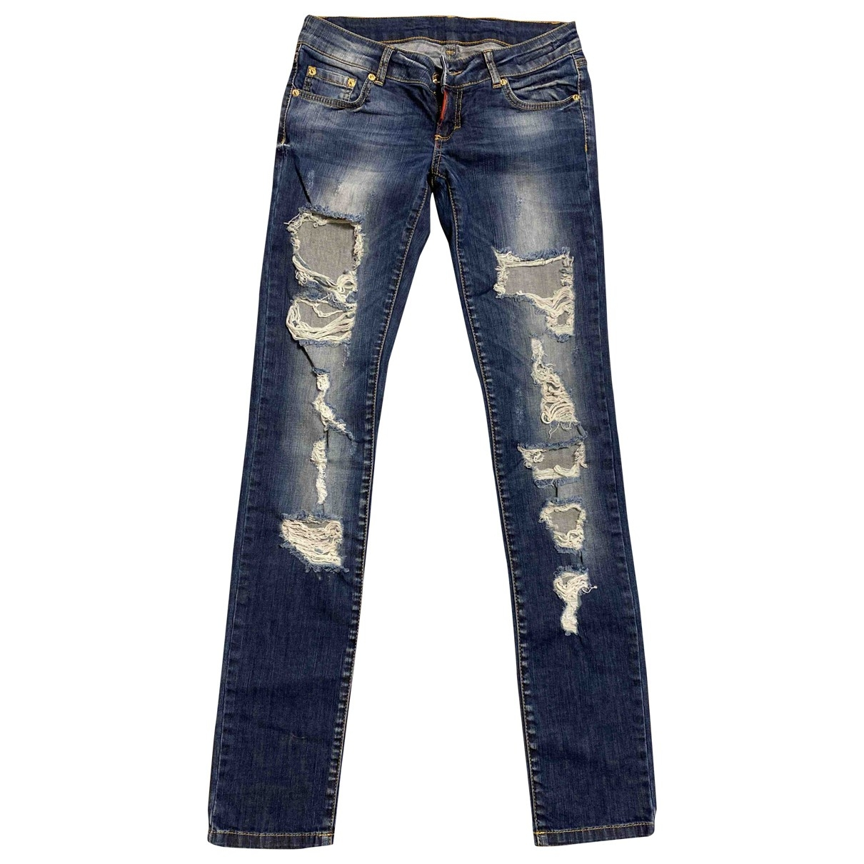 Dsquared2 \N Blue Cotton Jeans for Women 28 US