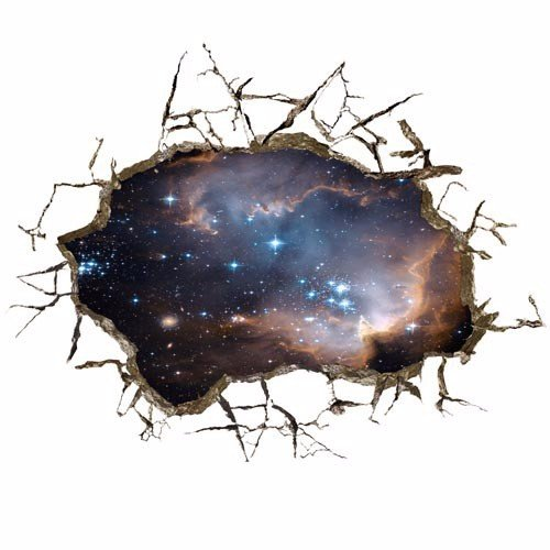 PAG STICKER 3D Wall Decals Starry Sky Celling Hole Sky Sticker Home Wall Decor Gift