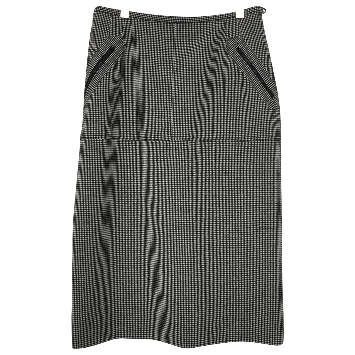 Non Signé / Unsigned \N Grey Cotton skirt for Women 36 FR