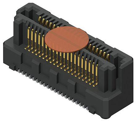 Samtec , LSHM Razor Beam, 60 Way, 2 Row, Vertical PCB Header