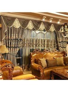 Classical Luxury Organza Grommet Top Living Room and Bedroom Custom Sheer Curtain