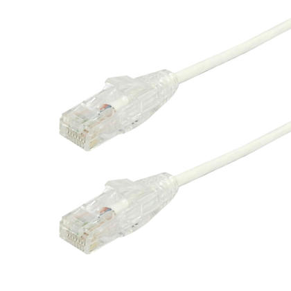 Cat6 UTP Ultra-Thin Patch Cable - White - 25ft