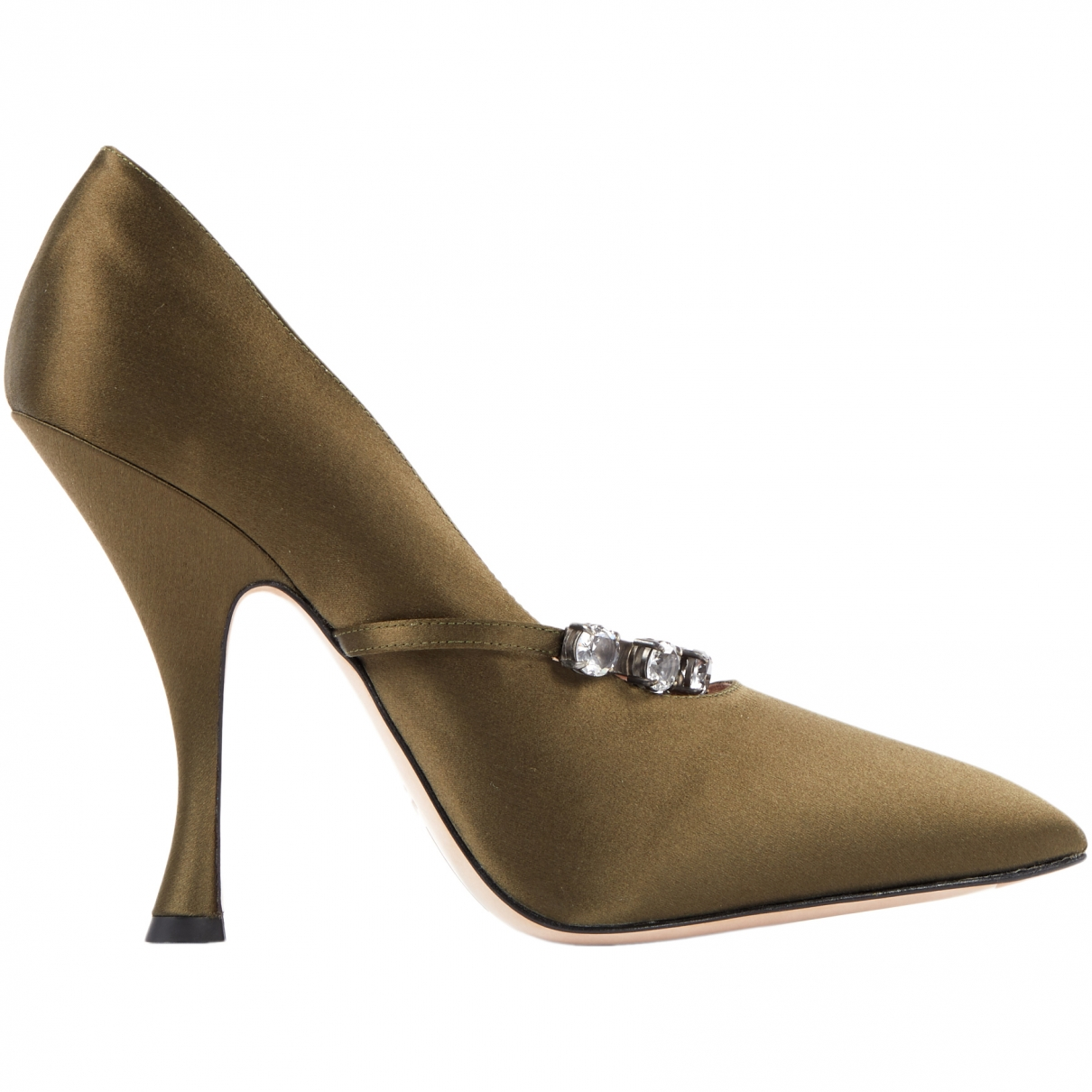 Miu Miu \N Khaki Cloth Heels for Women 41 EU