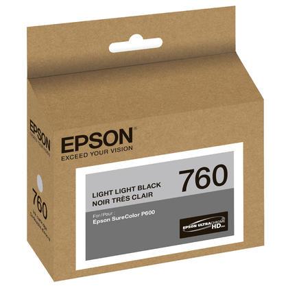 Epson 760 T760920 Original Light Light Black Ink Cartridge