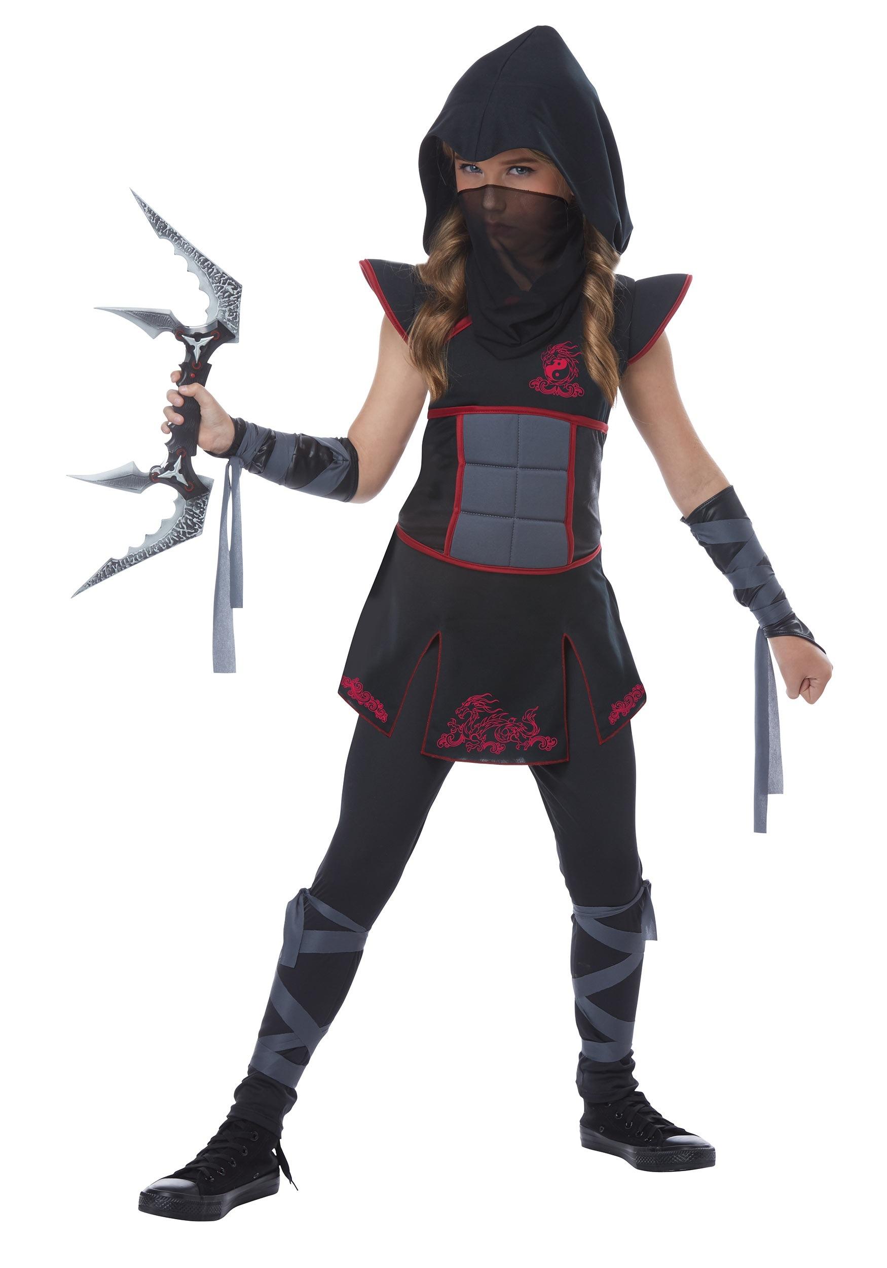 Black Ninja Costume for Girls