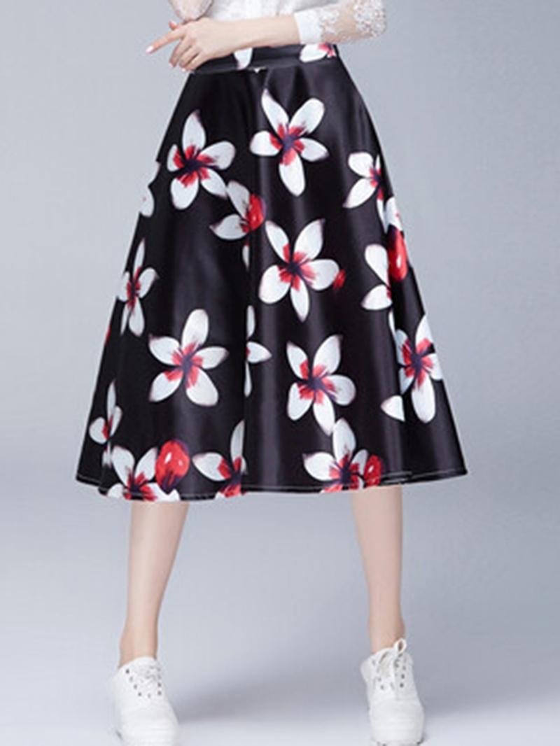 Ericdress High-Waist Floral Skirts
