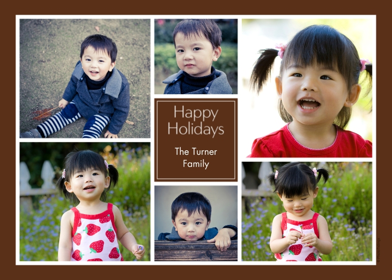 Holiday Photo Cards 5x7 Cards, Premium Cardstock 120lb, Card & Stationery -Happy Holidays Collage