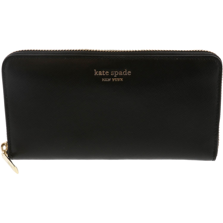 Kate Spade Women's Spencer Zip Around Continental Leather Wallet - Black