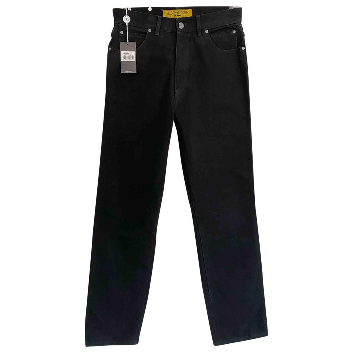 Valentin Yudashkin \N Black Cotton Jeans for Women 32 US