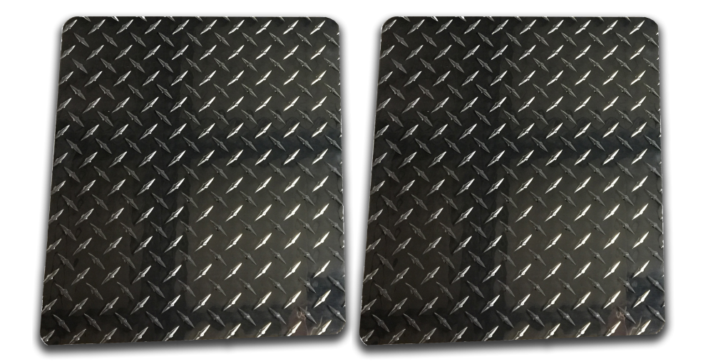 Owens Products 861016D Mud Flaps Owens Classic Aluminum Mudflaps / Rectangular / Diamond Tread Aluminum / Universal Fit / 10 x 16 / Bright /