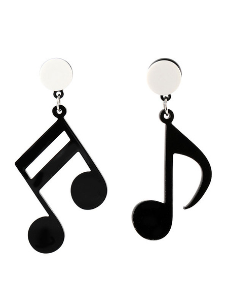 Milanoo Note Stud Earrings Music Jewelry Gift For Singer