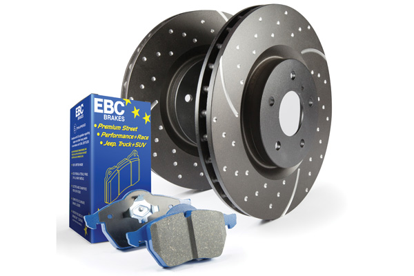 EBC Brakes S6KR1051 S6KR Kit Number REAR Disc Brake Pad and Rotor Kit DP51156/2NDX+GD7023 Ford Mustang Rear 1994-2004