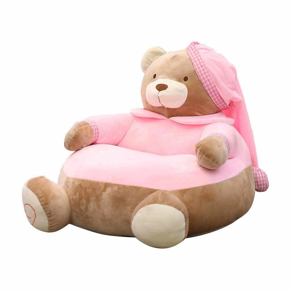 Kids Relaxing Sofa Seating Chair Covers Lazy Bean Bag Baby Furniture Cushion for Home
