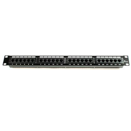 Panneau de brassage amélioré Cat5e 110 type 24 ports (compatible 568A/B)
