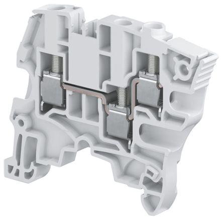 Entrelec ATEX, ZS6, 800 V ac Standard Din Rail Terminal, Screw Termination, Grey (10)