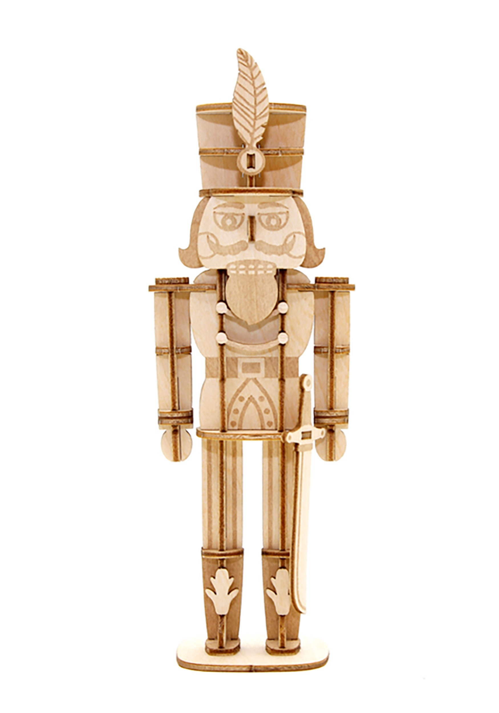 Nutcracker 3D Christmas Wood Model with Background Display
