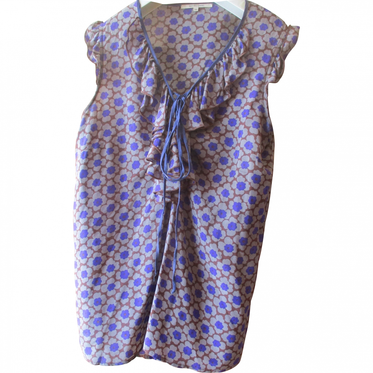Gerard Darel \N Purple Silk  top for Women 38 FR