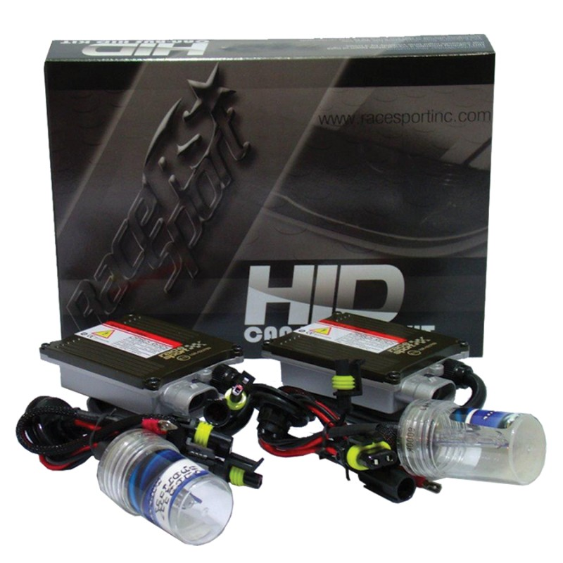 Race Sport Lighting H7-5K-G1-CANBUS-R H7 GEN1 5K Canbus HID Mid-Slim Ballast Kit with Relay Resistor Harness