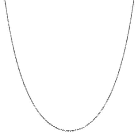 14K White Gold Solid Cable Chain Necklace, One Size , No Color Family