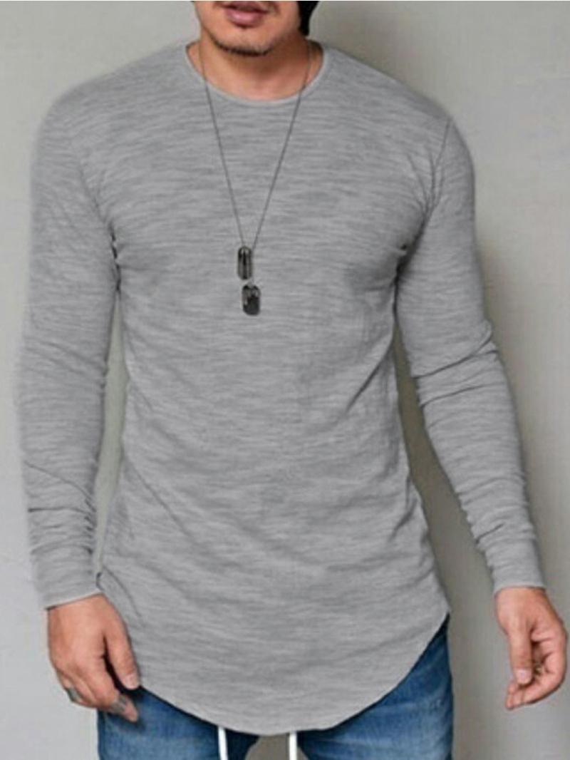 Ericdress Plain Crew Neck Men's T-Shirt