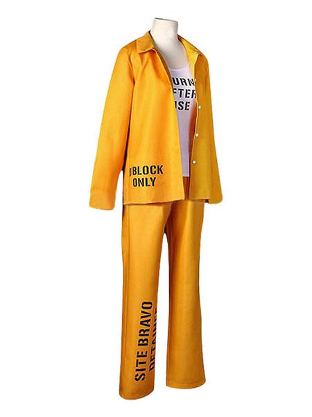 Milanoo Harley Quinn Cosplay Birds Of Prey Suicide Squad Orange Prinson Costume DC Comics Cosplay Costume