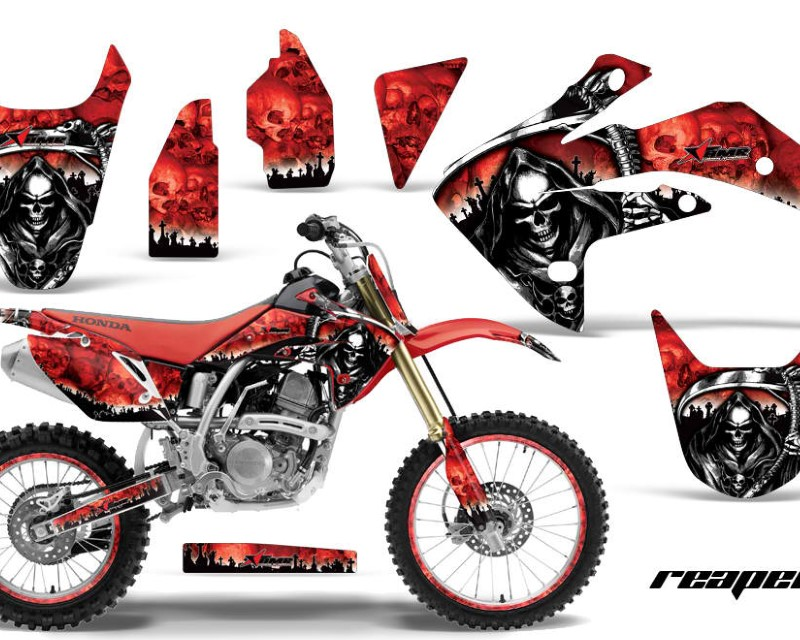 AMR Racing Graphics MX-NP-HON-CRF150R-07-16-RP R Kit Decal Sticker Wrap + # Plates For Honda CRF150R 2007-2016áREAPER RED