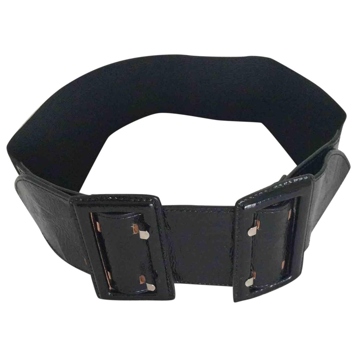Sport Max \N Black Leather belt for Women M International