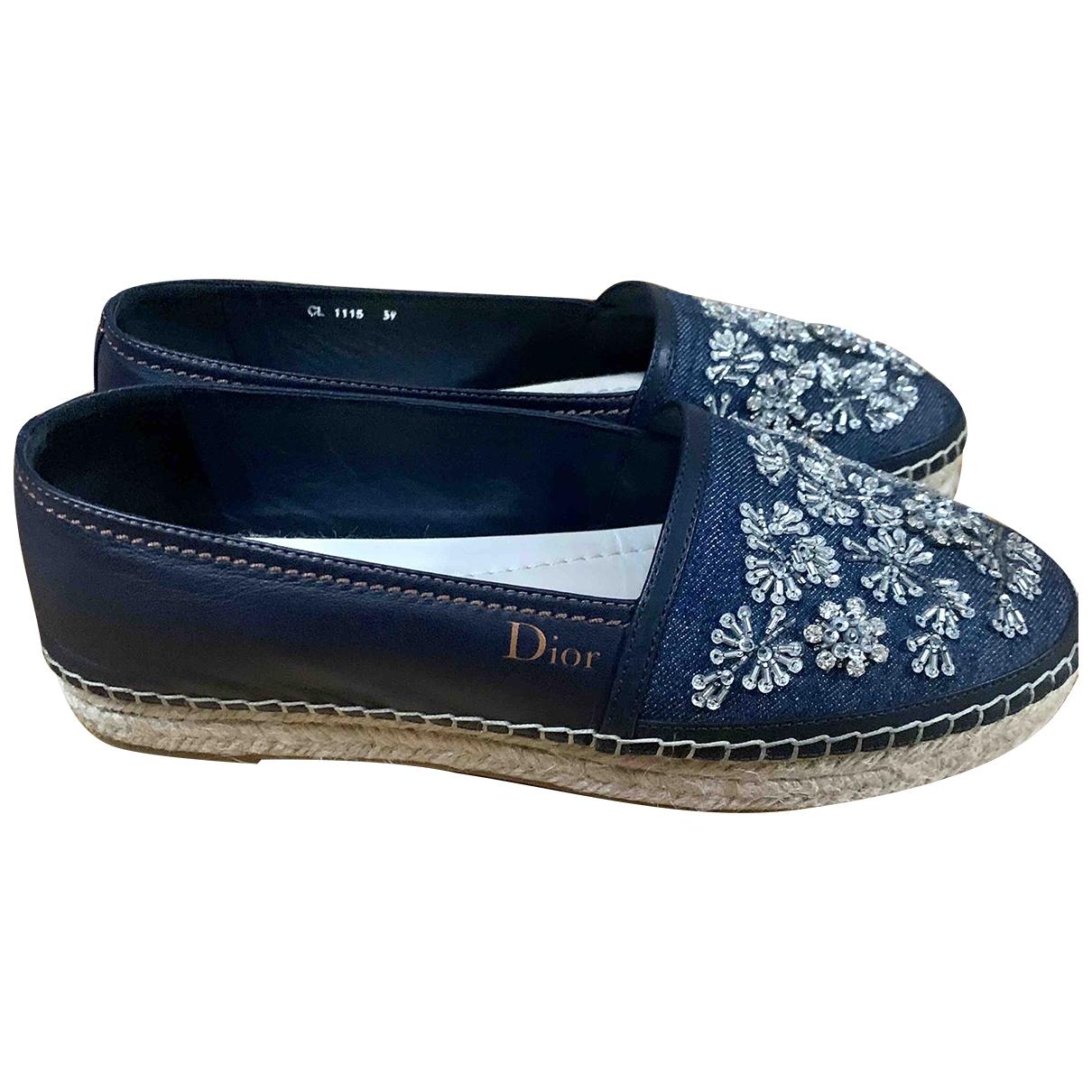 Dior \N Blue Cloth Espadrilles for Women 39 EU