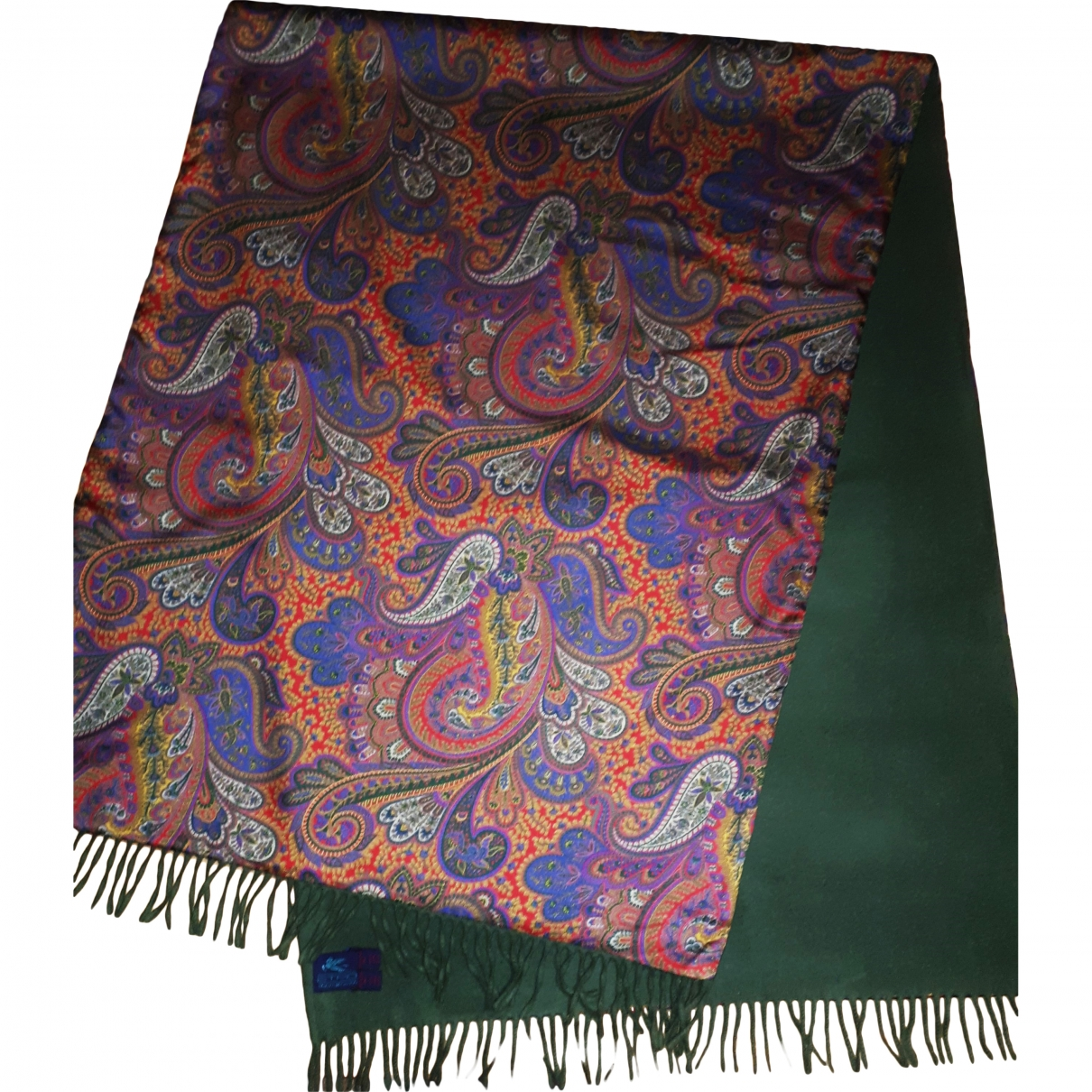 Etro \N Green Silk scarf for Women \N