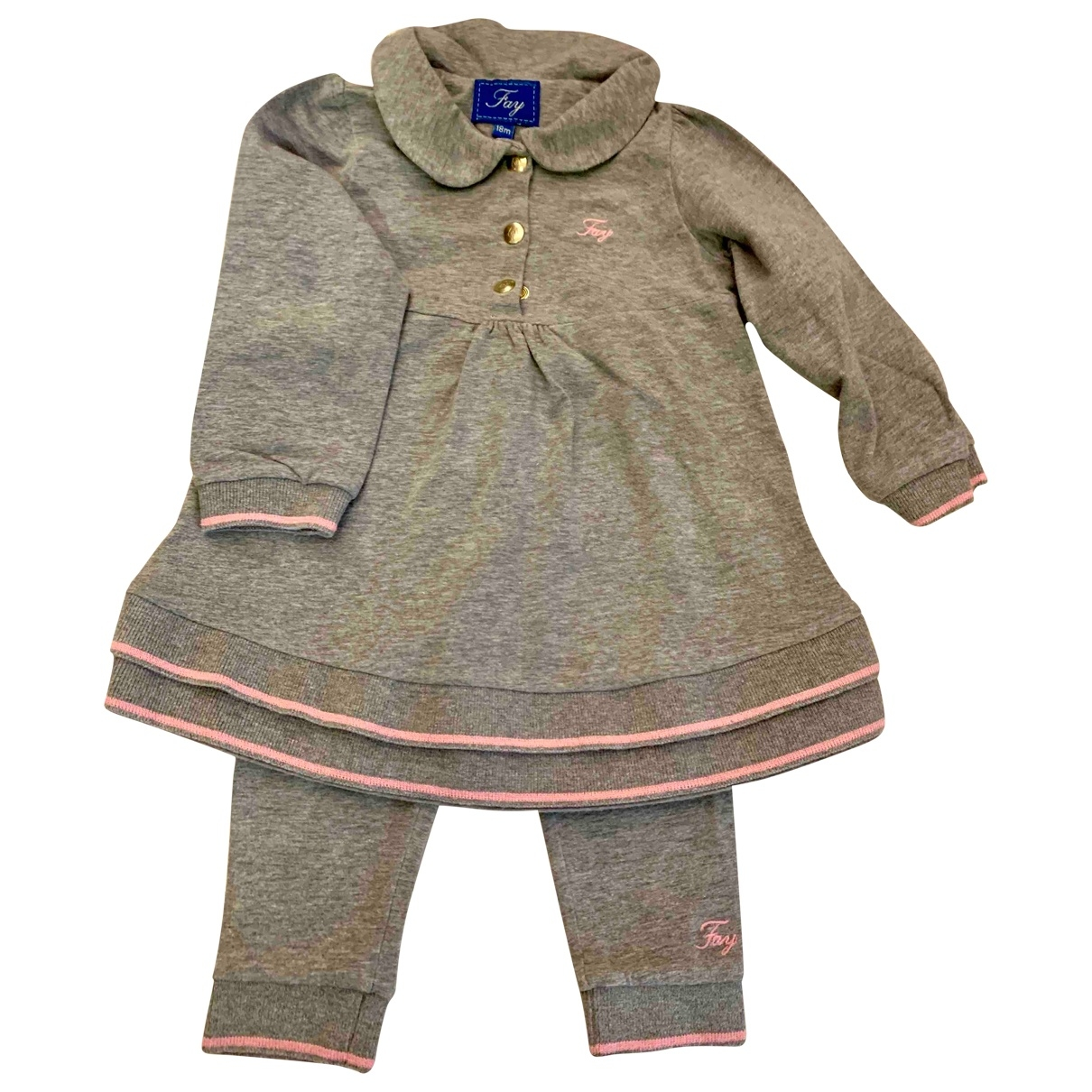 Fay \N Grey Cotton Outfits for Kids 18 months - up to 81cm FR