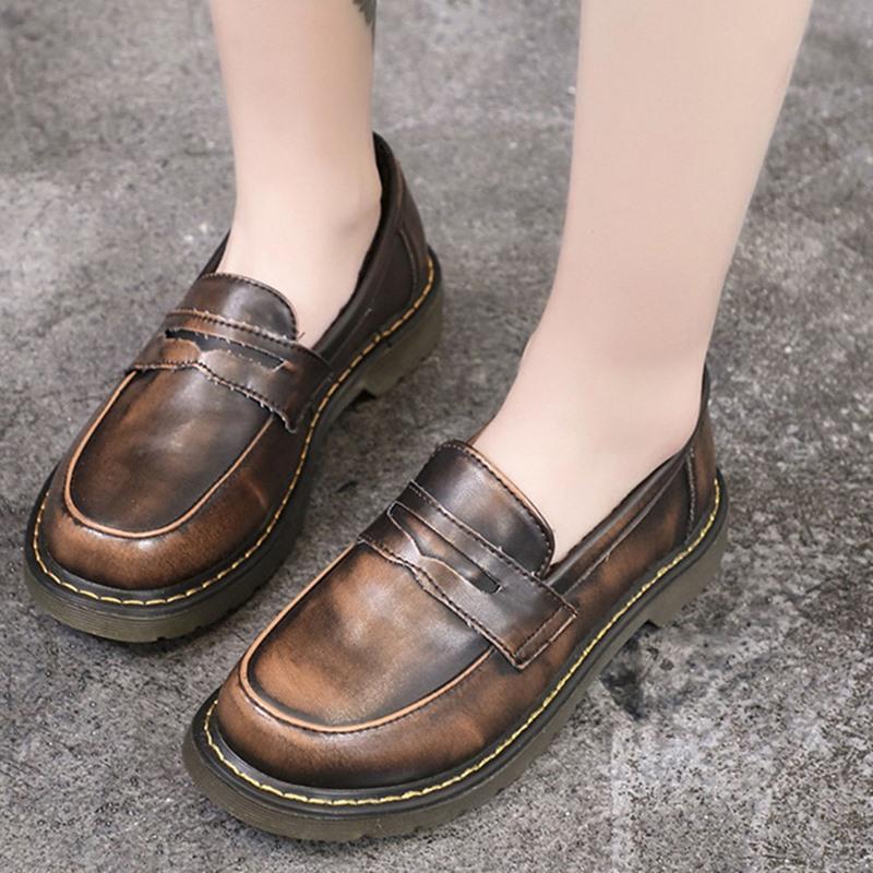Ericdress Round Toe Slip-On Block Heel Low-Cut Upper Thin Shoes