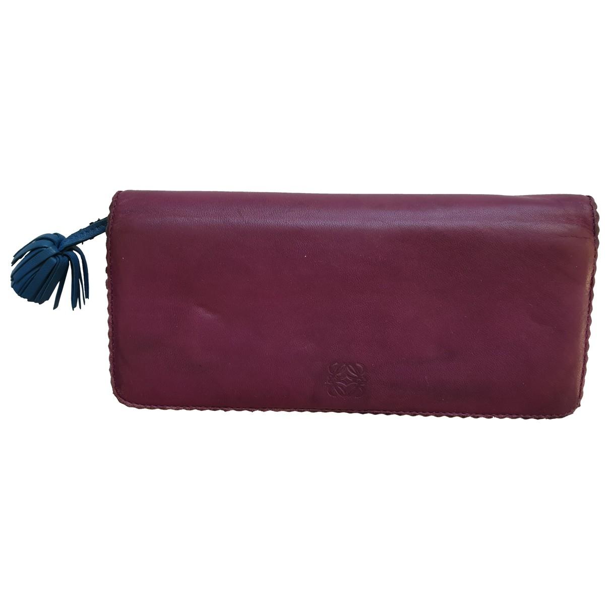 Loewe \N Purple Leather wallet for Women \N